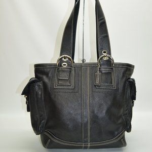 Coach Soho Double Buckle Pockets Zip Tote 10037